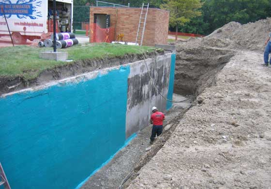 Rub-R-Wall provides a seamless non-deteriorating rubber membrane