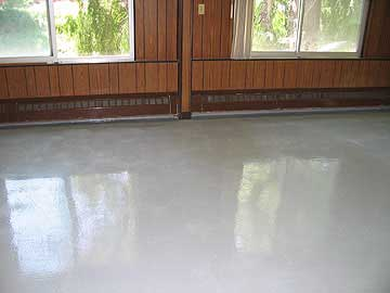 We install a variety of epoxy floor products and sealer products